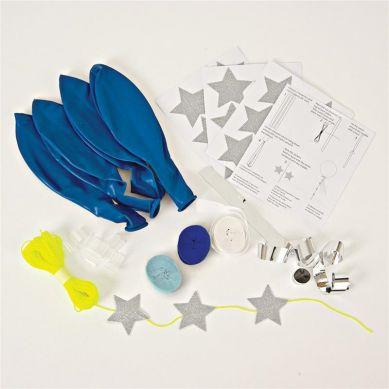 Meri Meri - Zestaw Balonów z Ozdobami Niebieski