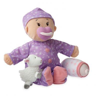 Manhattan Toy - Pluszowa Lalka w Fioletowej Piżamce