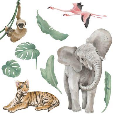 Pastelowelove - Naklejka na Ścianę Safari Zwierzęta I