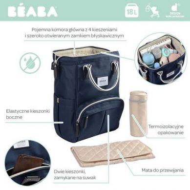 Beaba - Torba Plecak dla Mamy Wellington Blue Navy
