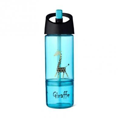 Carl Oscar - Kids Bottle Bidon z Pojemnikiem na Przekąski 2w1 Turquoise Giraffe