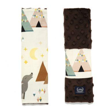 La Millou - Seatbelt Cover Buffalo Chocolate