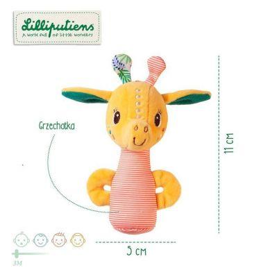 Lilliputiens - Mini grzechotka Żyrafka Zia 0m+