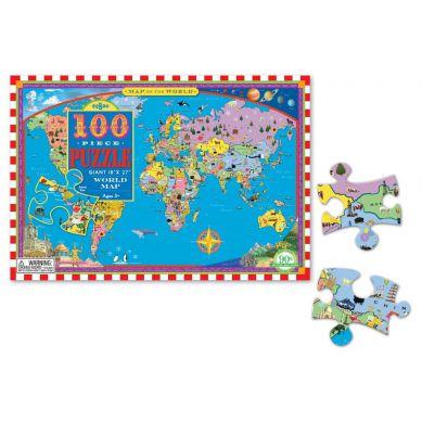 Eeboo - Puzzle Mapa Świata 100 elementów