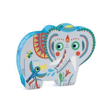 Djeco - Puzzle Słoń Azjatycki