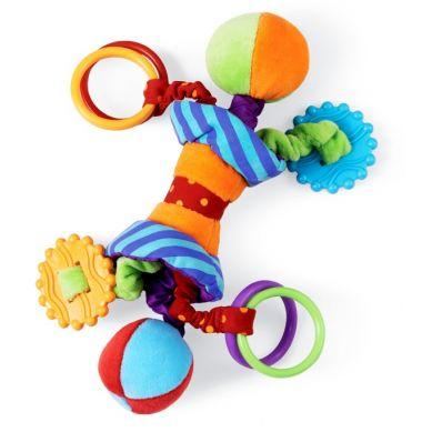 Manhattan Toy - Materiałowa Grzechotka Edukacyjna Ziggles