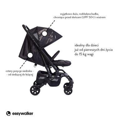 MINI by Easywalker - Buggy XS Wózek Spacerowy z Osłonką Przeciwdeszczową LXRY Black