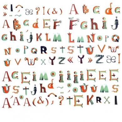 Djeco - Naklejki Dekoracyjne Alfabet Piracki
