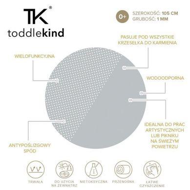 Toddlekind - Mata Ochronna Podłogowa Okrągła Clean Wean Mat Spotted Dove Grey