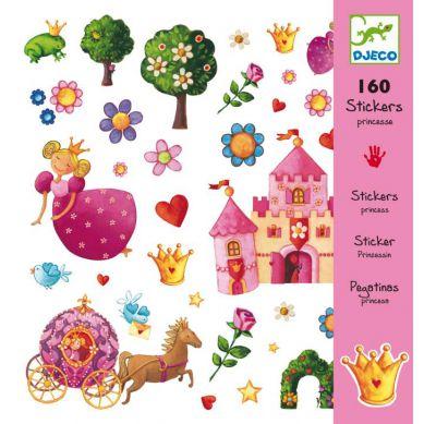 Djeco Zestaw 160 Naklejek Księżniczka
