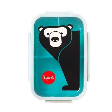 3 Sprouts - Lunchbox Bento Niedźwiedź Teal