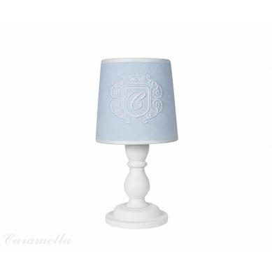 Caramella - Lampeczka Welurowa Błękitna z Emblematem
