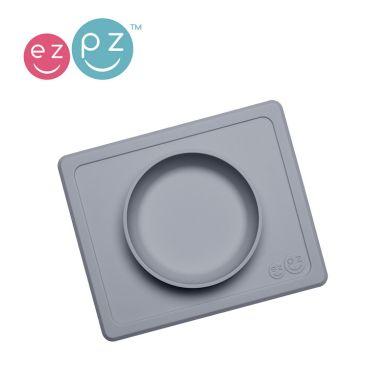 EZPZ - Silikonowa Miseczka z Podkładką 2w1 Mini Bowl Szara