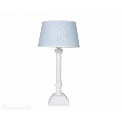 Caramella - Lampa Welurowa Błękitna z Emblematem