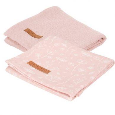 Little Dutch - Otulacze 70x70cm 2 szt Wild Flowers Pink
