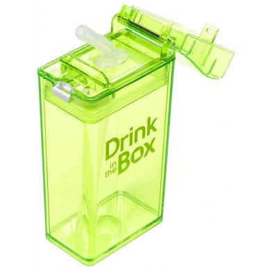Drink In The Box - Bidon ze Słomką 240ml Green