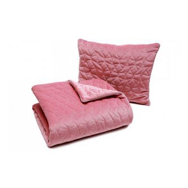 Pulp - Kocyk Dwustronny Velvet Pikowany Gwiazdki Róż