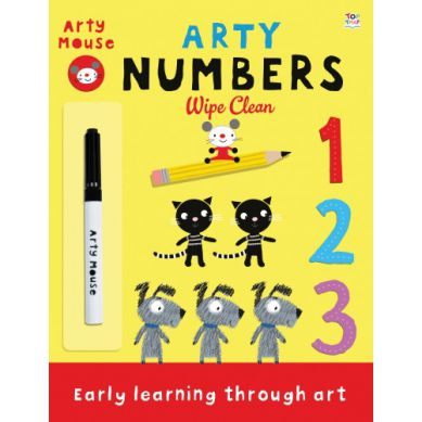 Wydawnictwo Usborne Publishing - Arty Numbers Wipe Clean