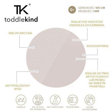 Toddlekind - Mata Ochronna Podłogowa Okrągła Clean Wean Mat Spotted Clay Beige