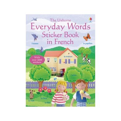 Wydawnictwo Usborne Publishing - Everyday Words Sticker Book in French