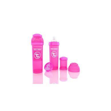 Twistshake - Butelka Anty-kolkowa 330ml Różowa