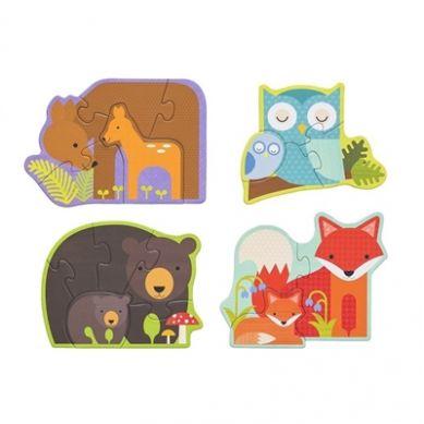 Petit Collage - Pierwsze Puzzle Leśne Zwierzęta Nowa Wersja