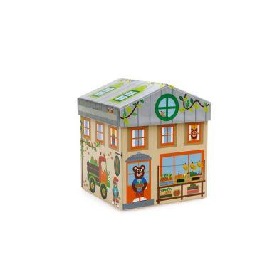 Scratch - Klocki Drewniane Domek Dklep 2w1