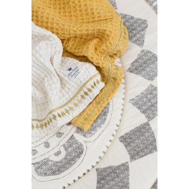 Elodie Details - Kocyk Cotton Waffle Sweet Vanilla White