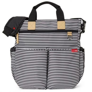 Skip Hop - Torba Duo Signature Black/White Stripe