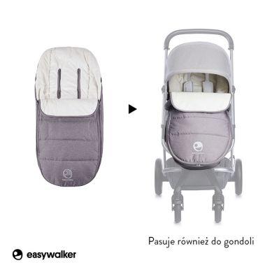 Easywalker - Harvey Śpiworek do Wózka na Zimę Uniwersalny Steel Grey