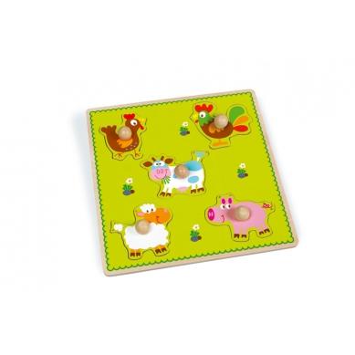 Scratch - Puzzle z Uchwytem Farma