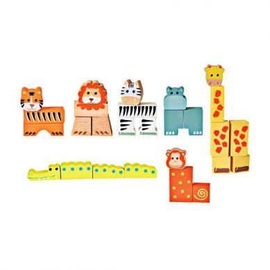 Egmont Toys - Drewniane Klocki Zwierzątka 1+