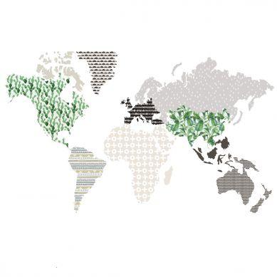 Dekornik - Naklejki Ścienne Mapa 5 Brąz M 150x90cm