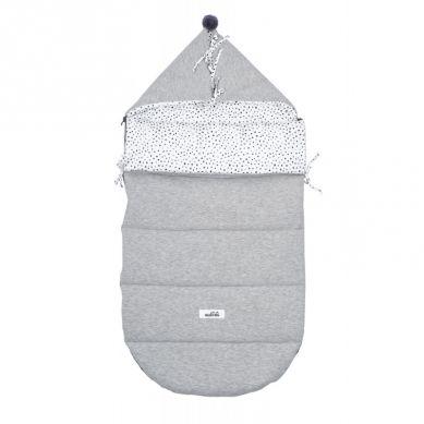 Malomi Kids - Śpiworek Dots Grey Melange