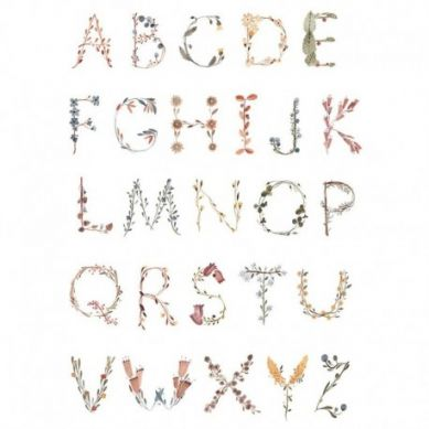 Mushie - Plakat Alphabet Large
