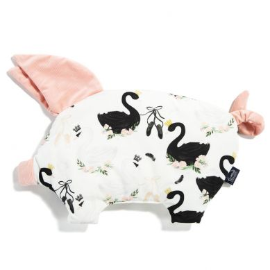 La Millou - Podusia do Wózka Sleepy Pig Velvet Collection Moonlight Swan Powder Pink