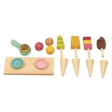 Tender Leaf Toys - Drewniany Sklepik z Lodami na Magnesy 3+