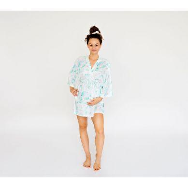 Lullalove - Szlafrok / Kimono Bambusowe - Paprocie Mięta