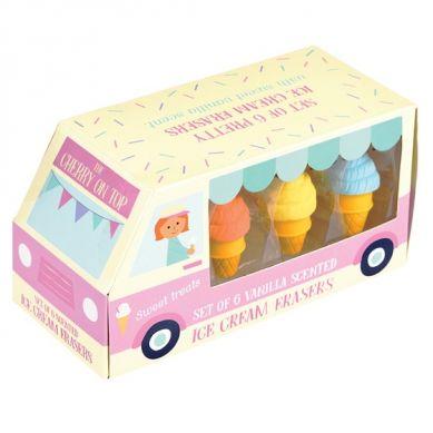 Rex - Zestaw Gumek do Ścierania Ice Cream 3+