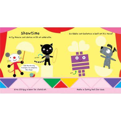 Wydawnictwo Usborne Publishing - Arty Mouse Shapes