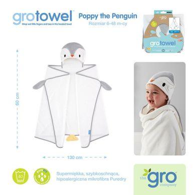 Gro Company - Ręcznik Grotowel Poppy the Penguin 6-48 miesięcy