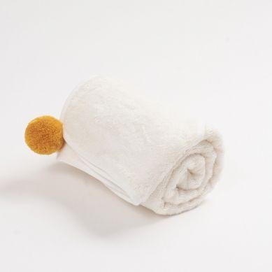 Bim Bla - Bambusowy Ręcznik Niemowlęcy Musztardowy