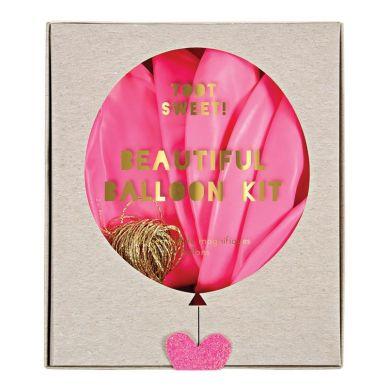 Meri Meri - Zestaw Balonów z Ozdobami Różowy