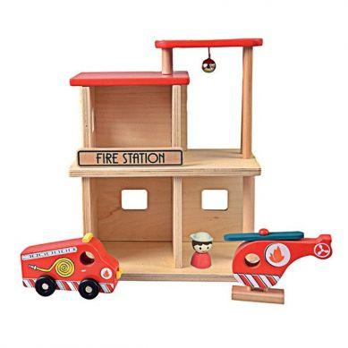 Egmont Toys - Drewniana Remiza Straży Pożarnej 3+