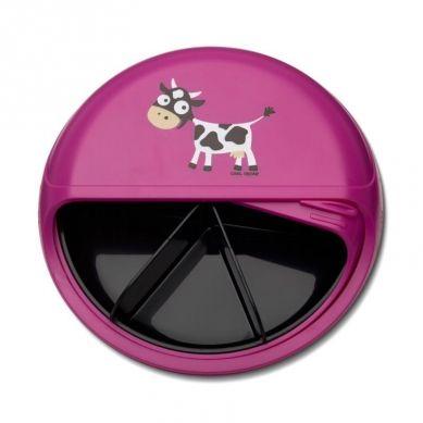 Carl Oscar - Rotable SnackDISC™ 5 komorowy obrotowy pojemnik na przekąski Purple Cow