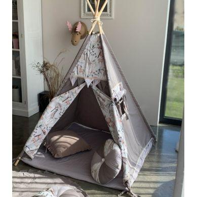 Muzpony - Tipi Safari Namiot dla Dzieci z Matą Podłogową