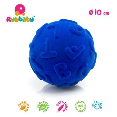 Rubbabu - Piłka Edukacyjna Sensoryczna Wielkie Litery Niebieska
