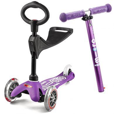 Micro - Hulajnoga Mini Baby Seat 3w1 Deluxe Purple