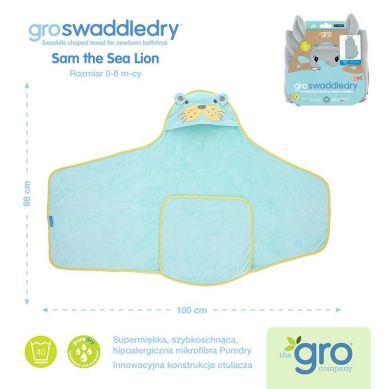 Gro Company - Otulacz-ręcznik Groswaddledry Sam the Sea Lion 0-6 miesięcy