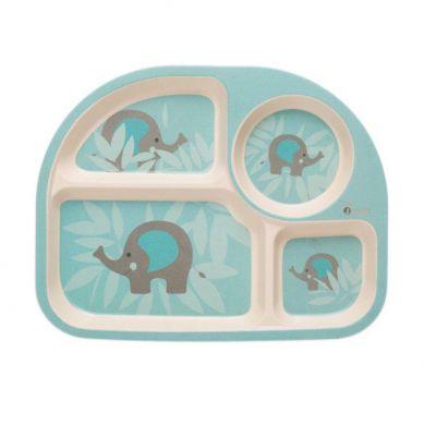 Bo Jungle - B-EKO Zestaw Naczyń z Kukurydzy Blue Elephant